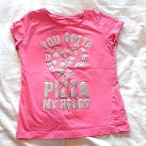 Carter's Girls Size 6 Pink Pizza Heart Tee Shirt